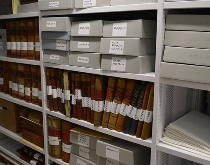 After cataloguing (image courtesy of University of Stirling)